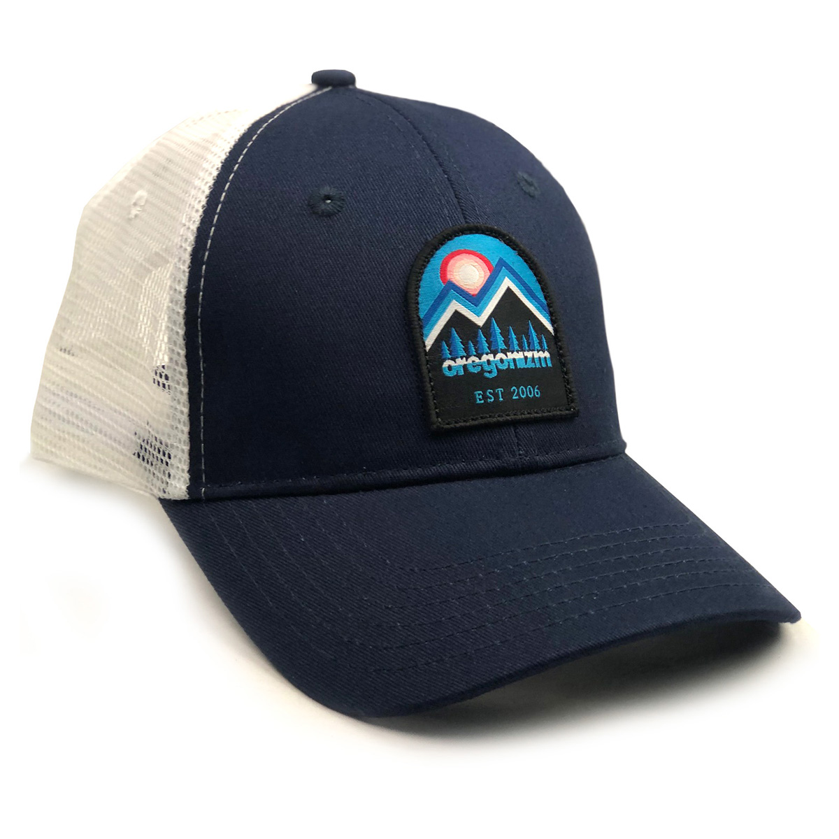MountainScapeHat-Navy-White