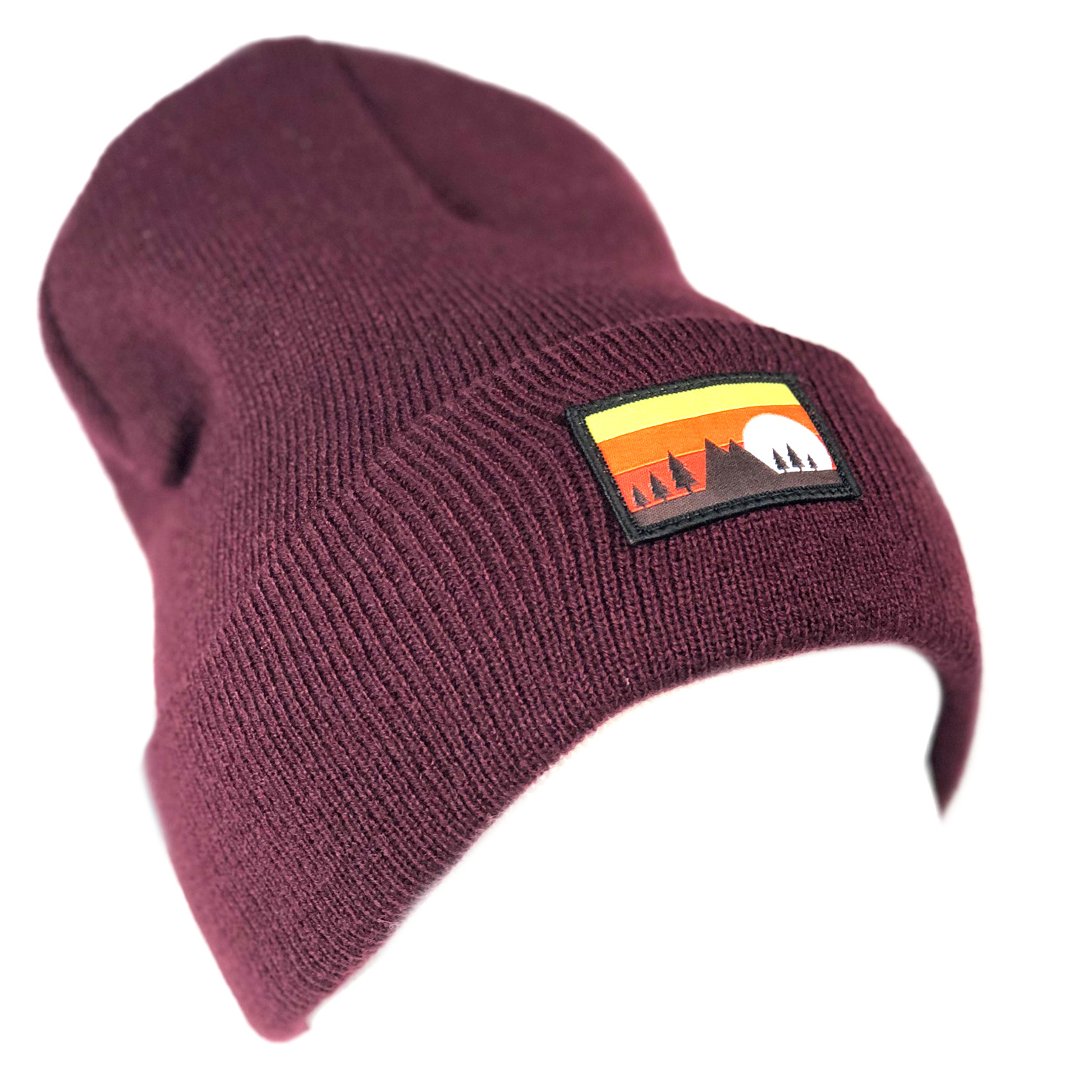 2019_02.05_Beanies_MountainScapeRibbed_Maroon_Front