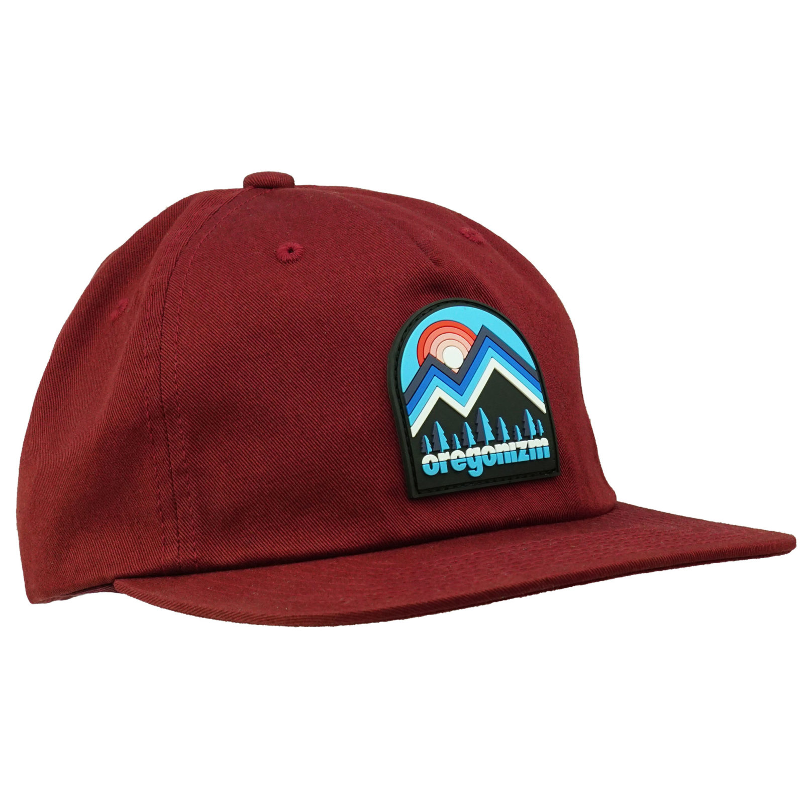 oregonizm-hat-mountainscape-unstructured-maroon-front