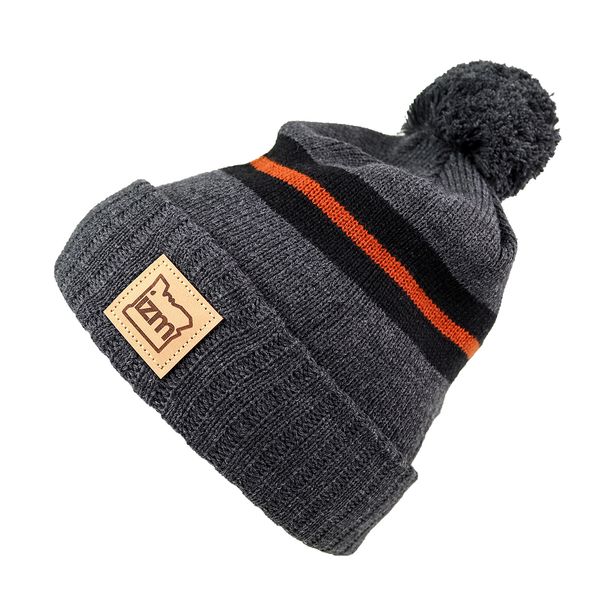 izm-productphoto-beanie-youth-jacquardknit-pom-charcoal-primary